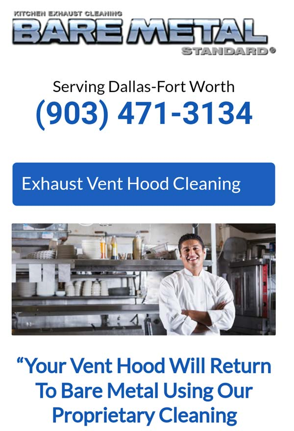 Kitchen exhaust cleaning email marketing.