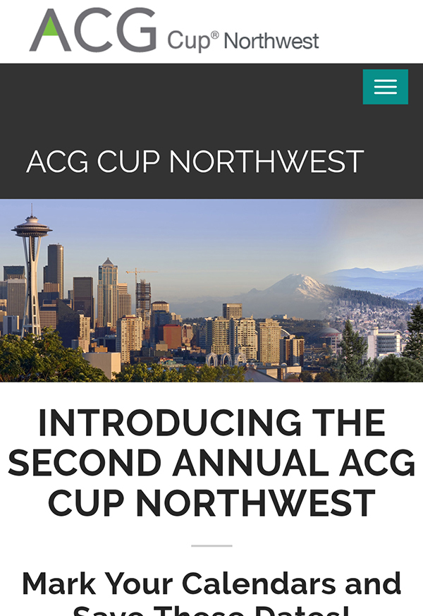 ACG Cup Northwest Competition Site
